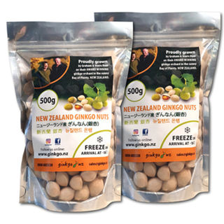 2 X 500g (1 Kilo) Fresh Ginkgo Nuts ( Retail)
