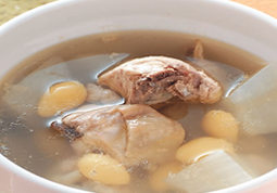 Chicken Soup with Ginkgo and Turnip
