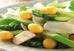 Lily Bulbs and Asparagus with Ginkgo
